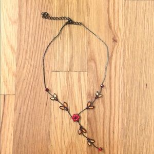 Jewelry - Red and Orange Jeweled Necklace